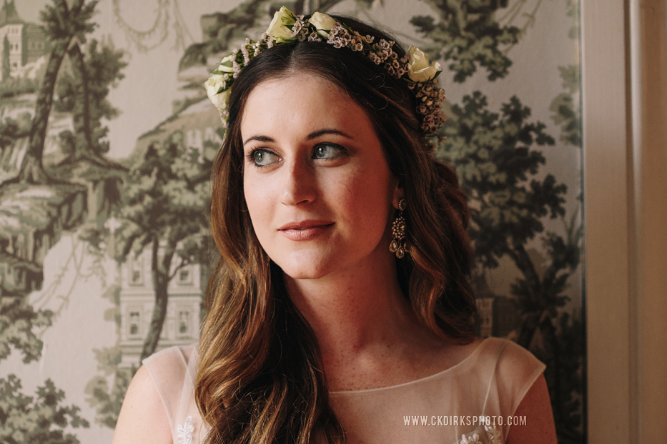 Simple bridal flower crown // Nashville Wedding Florist