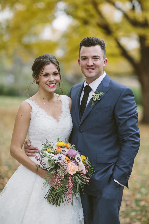 Colorful Bridal Bouquet // Autumn Wedding in East Nashville