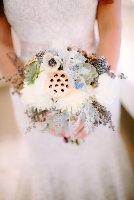 Wintry Bridal Bouquet // Nashville Wedding Flowers