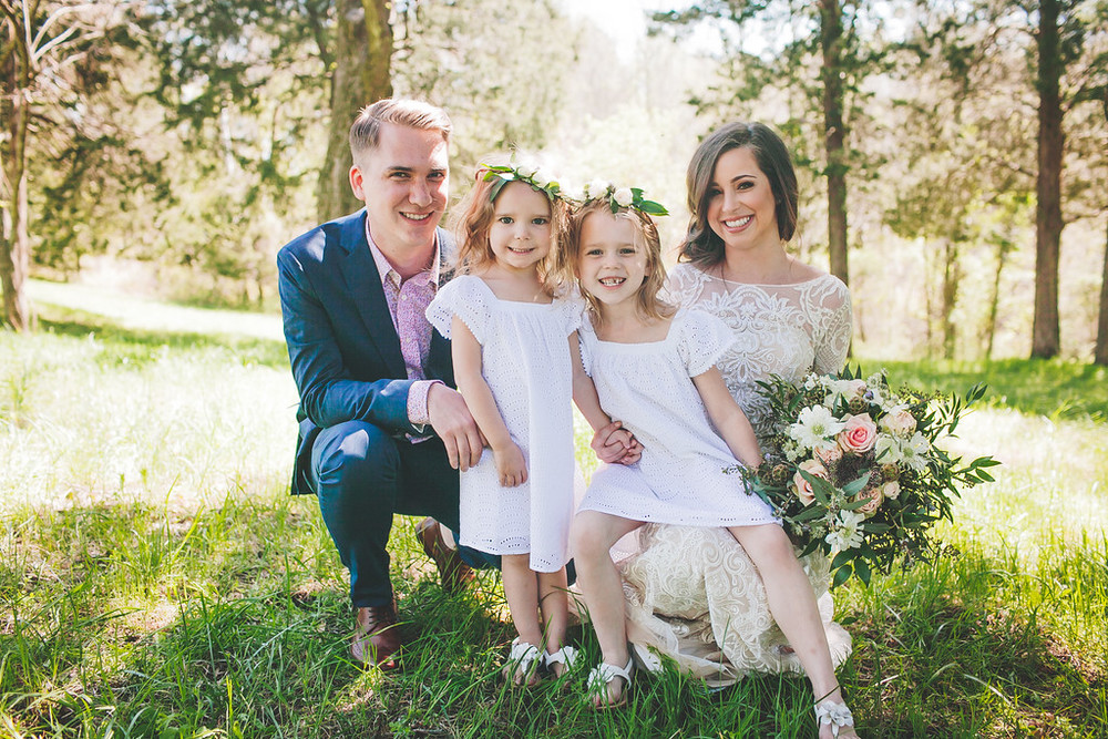 Darling flower girls in crowns / Nashville Wedding Florist
