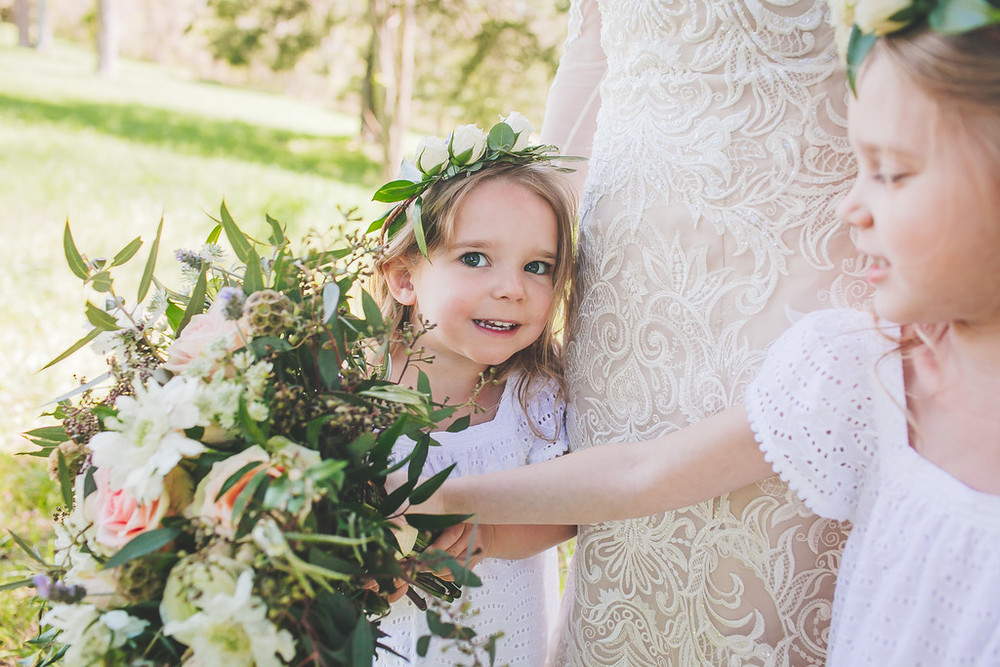 Flower girl crown // Nashville Wedding Florist