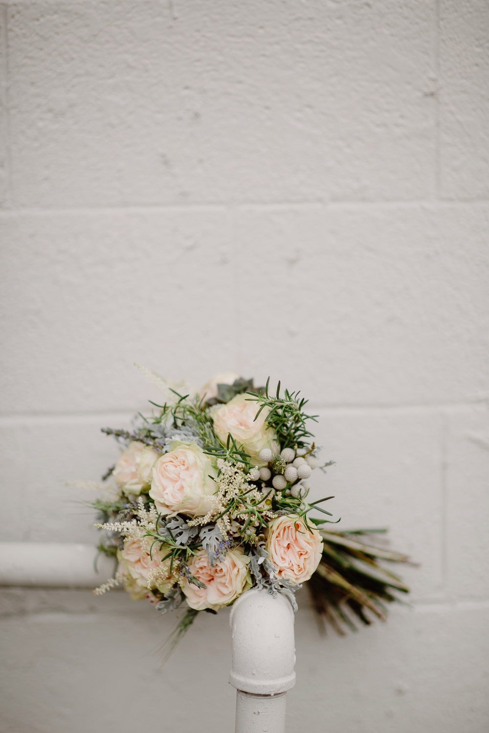 Muted bridal bouquet // Nashville Wedding Floral Design
