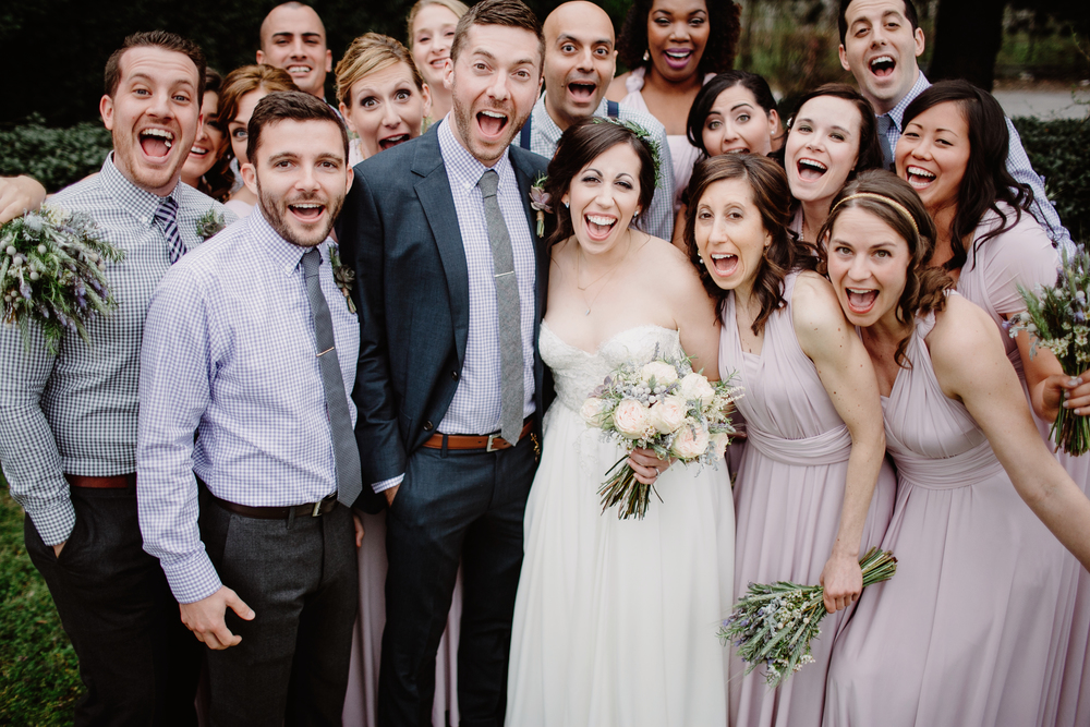 Happy bridal party at the Cordelle // Nashville Wedding Florist
