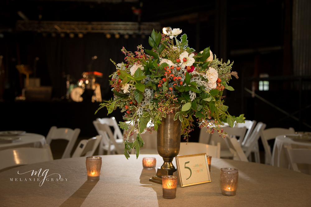 Greenery and rosehip centerpiece // Nashville Wedding Floral Design