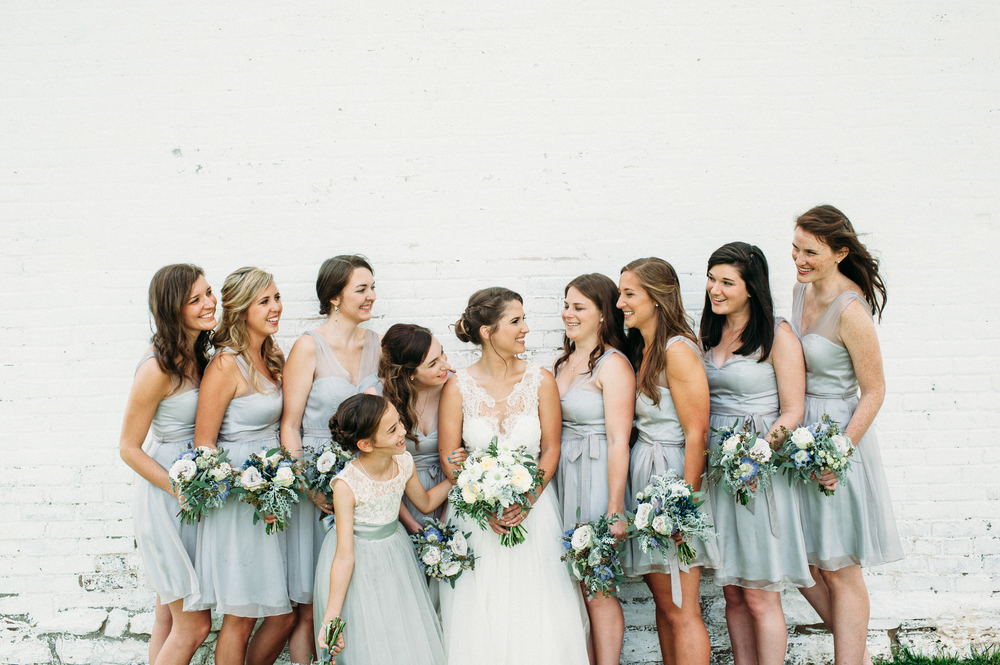 Light Blue Bridesmaid Dresses // Nashville Wedding Flowers
