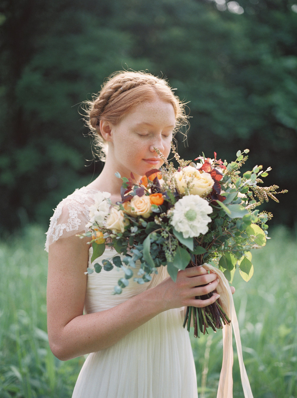 Whimsical Bridal Portrait // Nashville Wedding Flowers