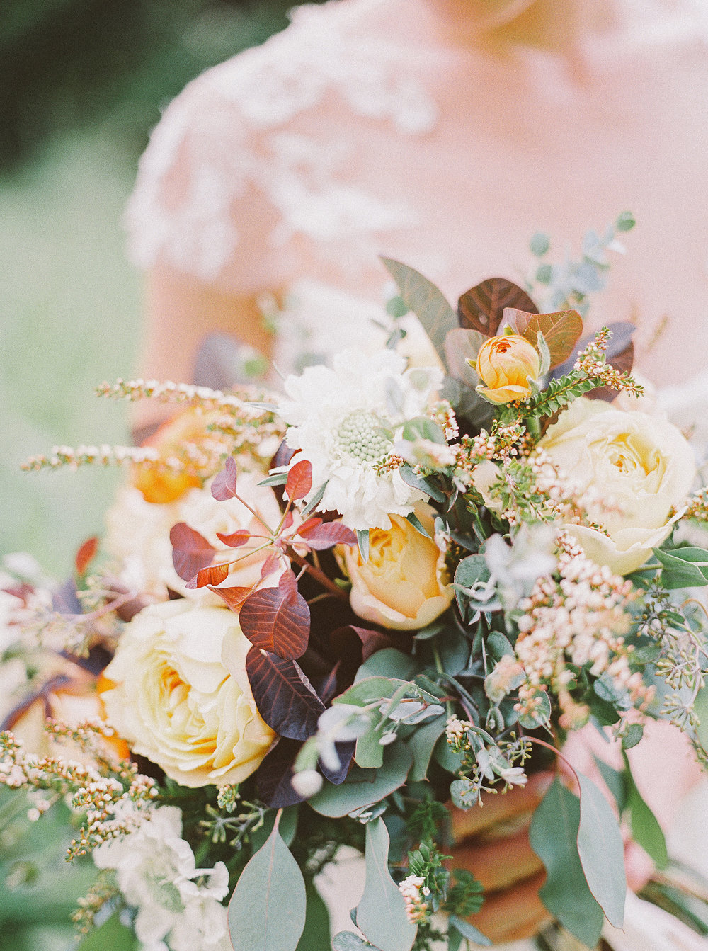 Garden rose and greenery bride's bouquet // Nashville Event Flowers