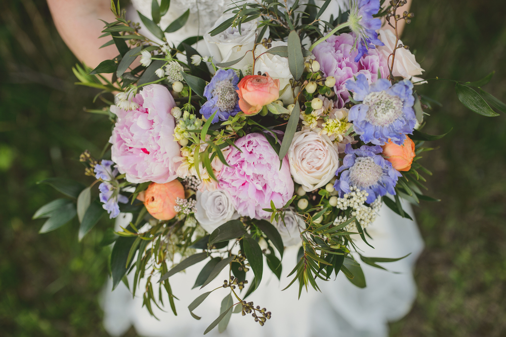 Peonies,  ranunculus, and greenery // Nashville Wedding Florist