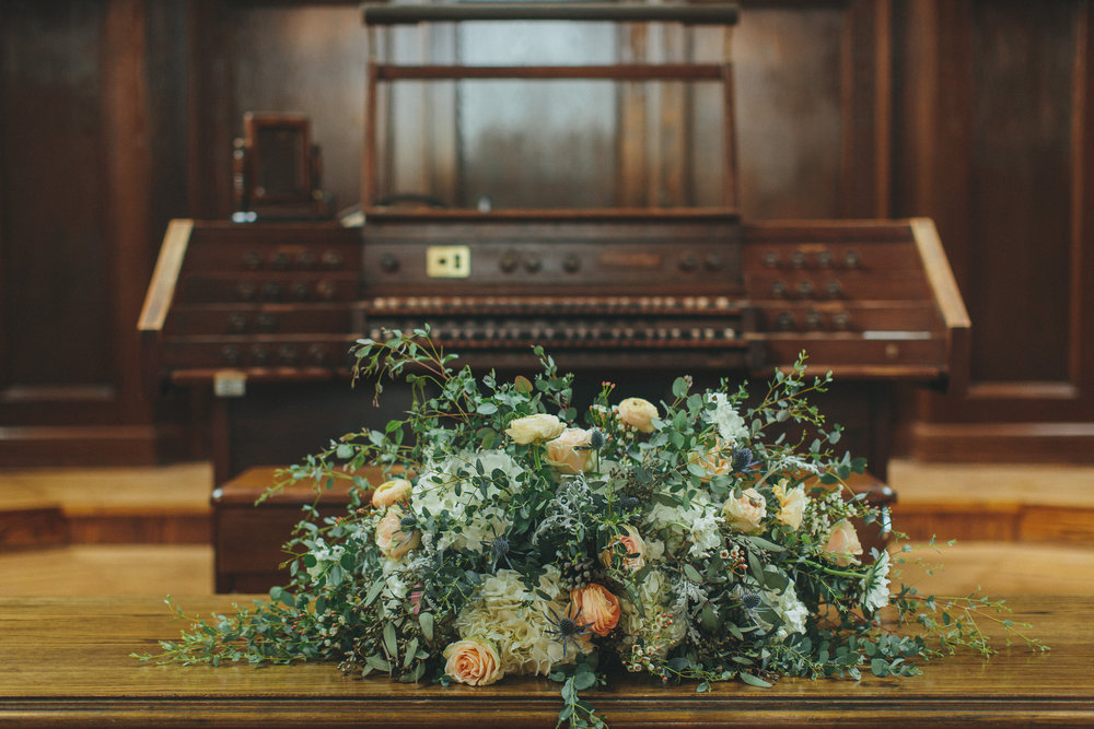Floral Altar Arrangment at Scarritt // Nashville Wedding Florist