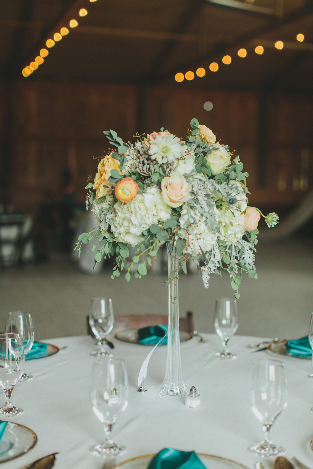Elevated floral centerpieces // Nashville Wedding Florist