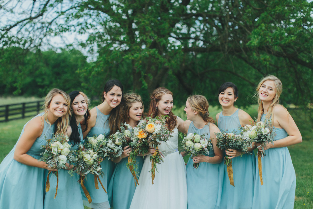 Lush greenery bouquets // Nashville Wedding Floral Design