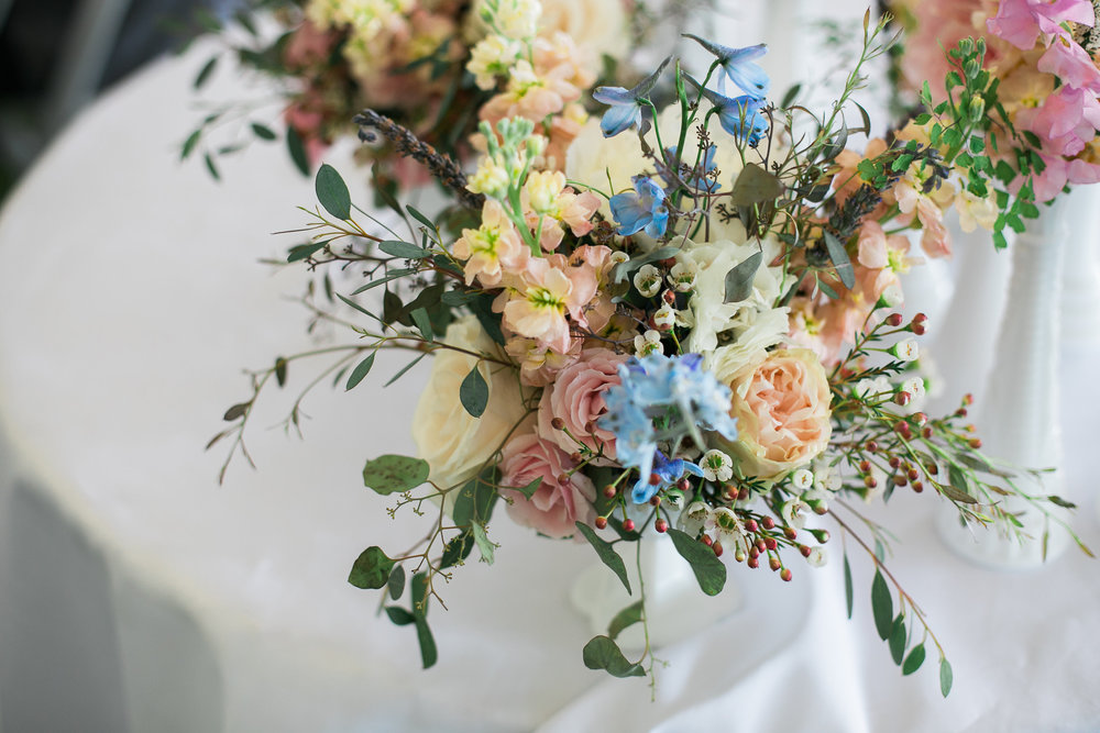 Lush, romantic floral centerpiece // Tennessee Wedding Florist