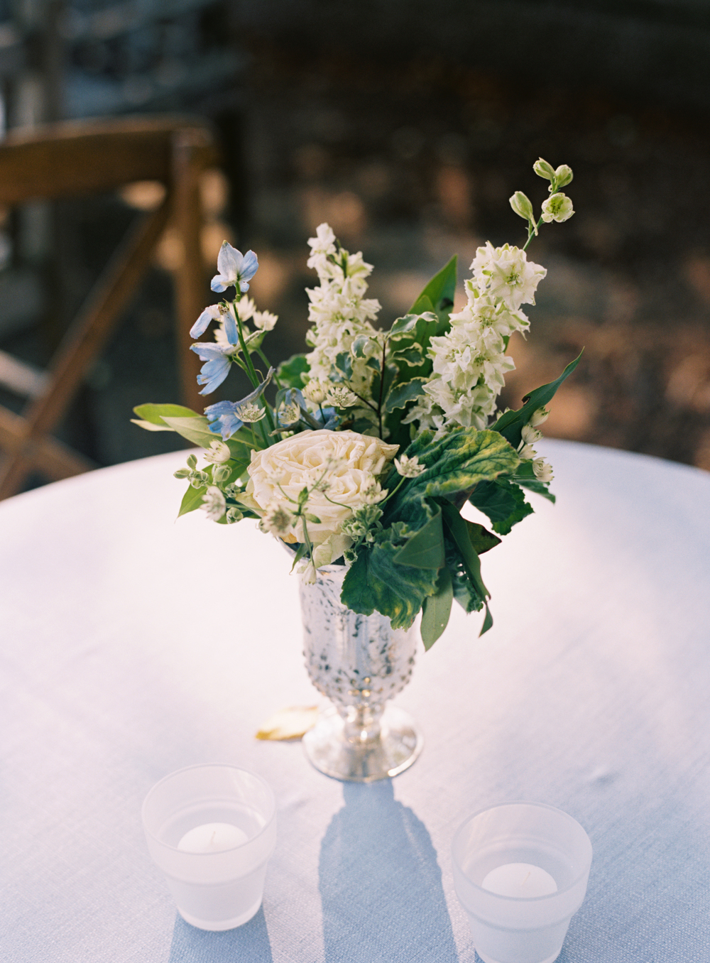 Garden rose, larkspur, and lush greenery // Nashville Wedding Florist