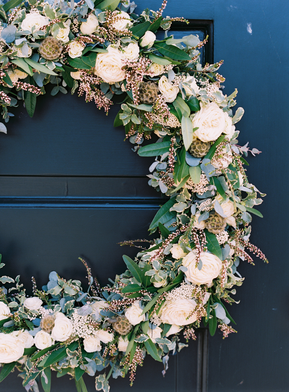 Floral Wreath for Church Doors // Nashville Wedding Flowers