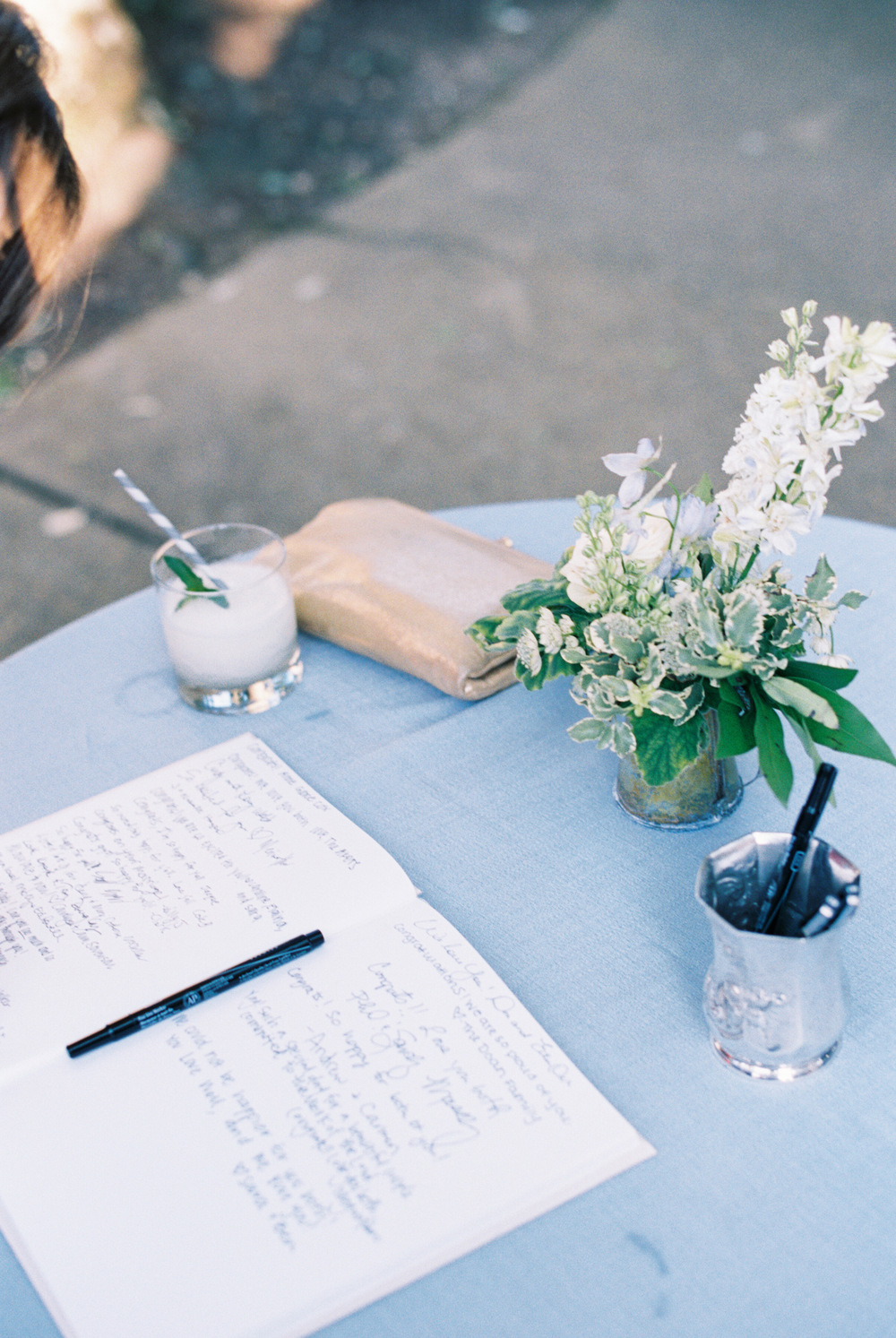 Guestbook Table // Nashville Wedding Floral Design