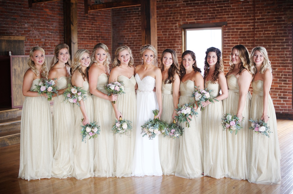 Blush and neutral bridesmaid style // Nashville Wedding Florist