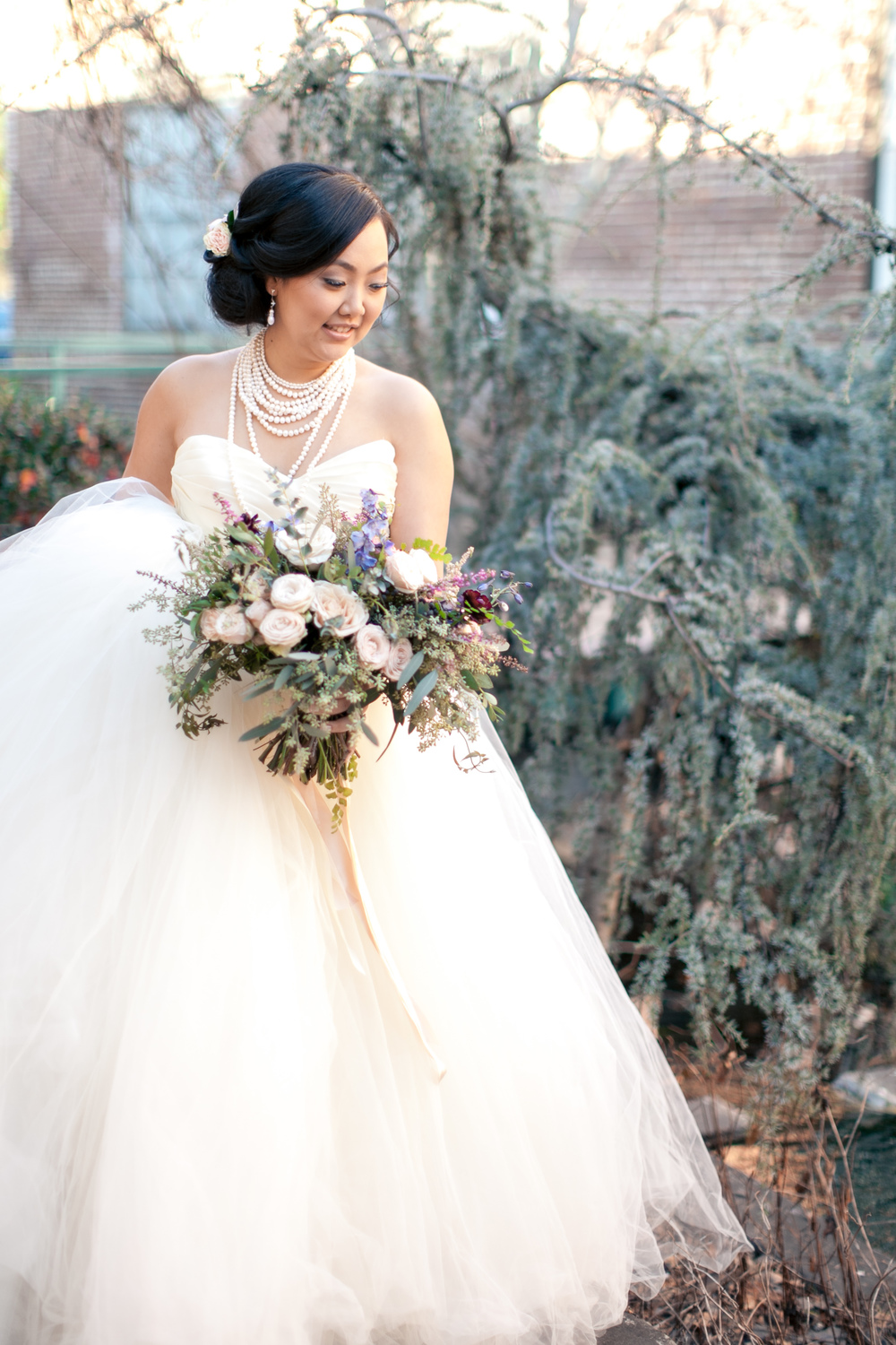Lush bridal bouquet // Biggest Fake Wedding Atlanta