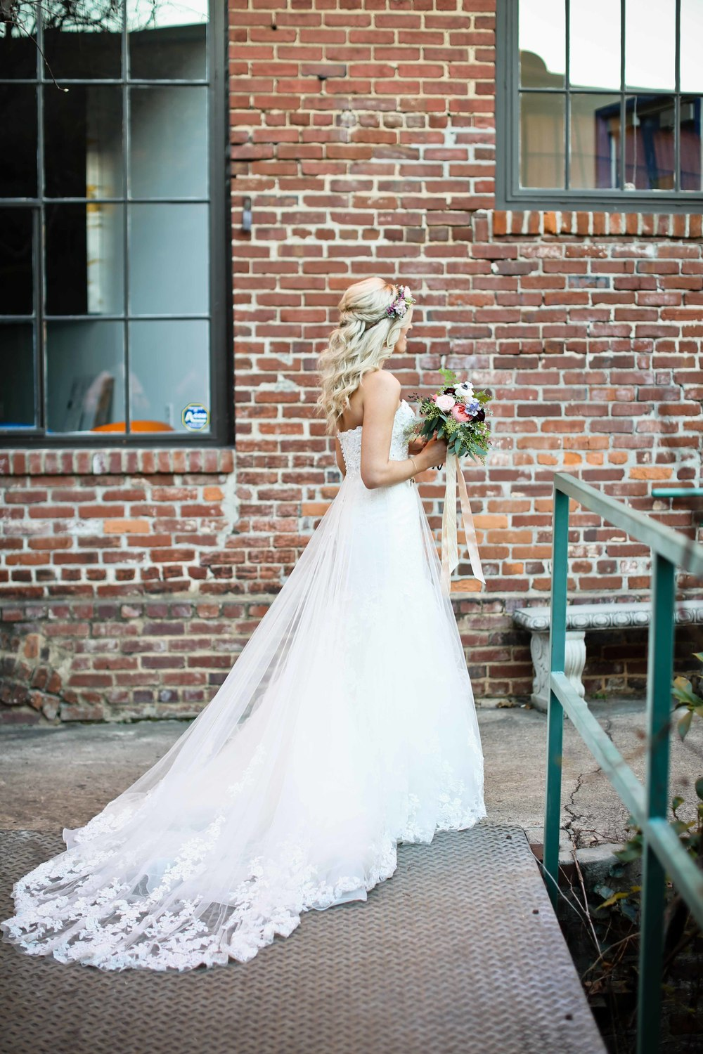 Industrial Bridal Portrait // Atlanta Florist