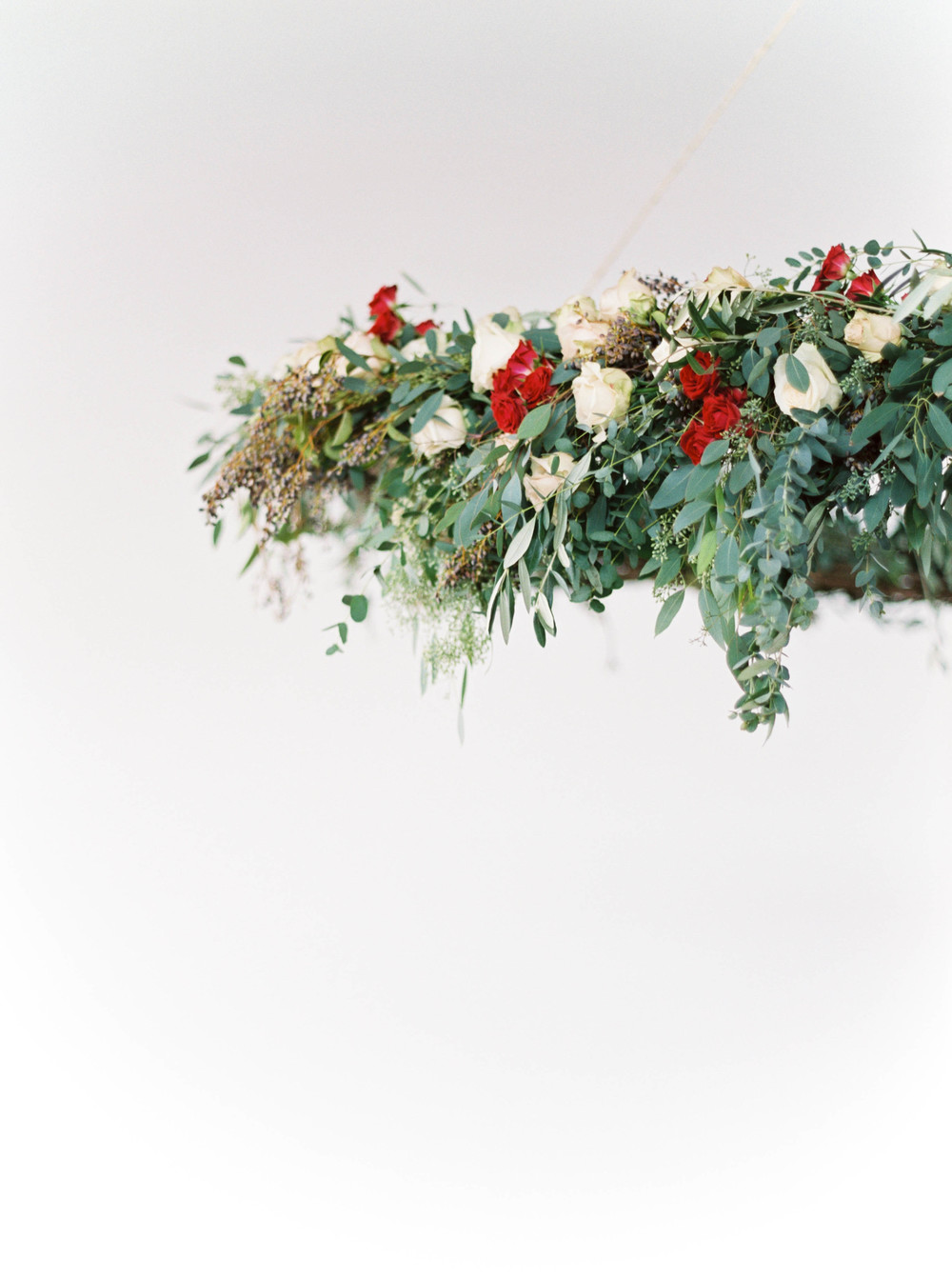 Lush, natural hanging wedding ceremony backdrop // Destination Floral Designer