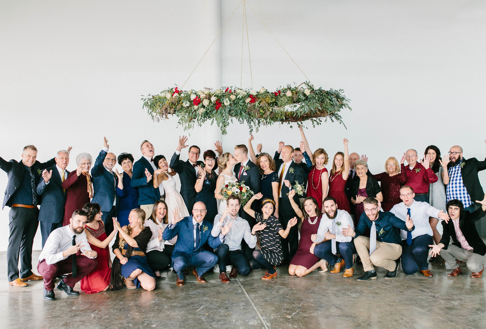 The entire wedding guest list in one photo! Intimate Nashville Wedding.