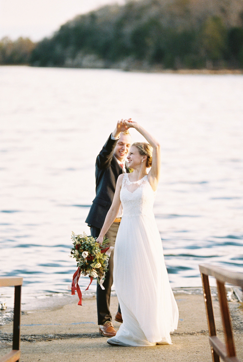 Dancing on the dock // Nashville Bride and Groom