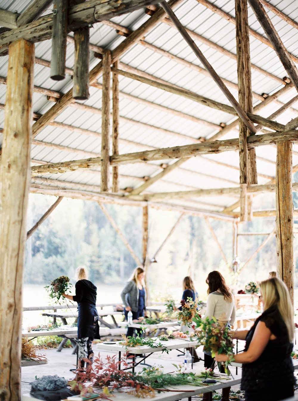 Outdoor Barn for hands on floral work