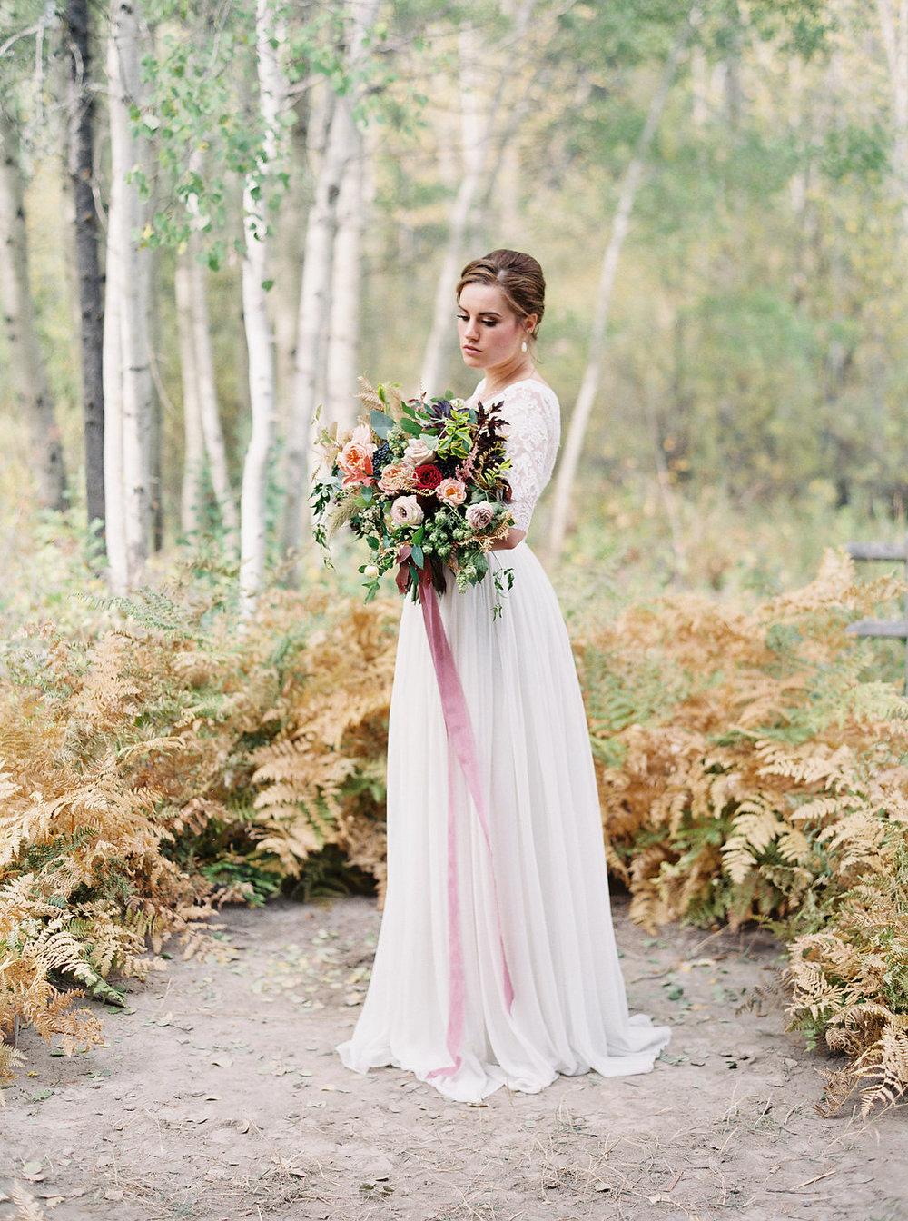 Lush, berry toned bridal bouquet // Destination Floral Designer