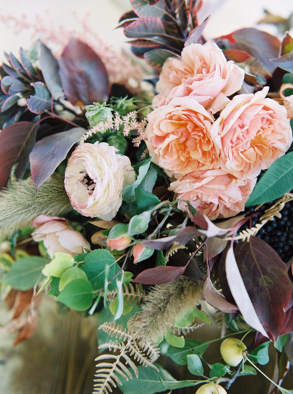 Ranunculus and Peach Garden Roses // Nashville Wedding Florist