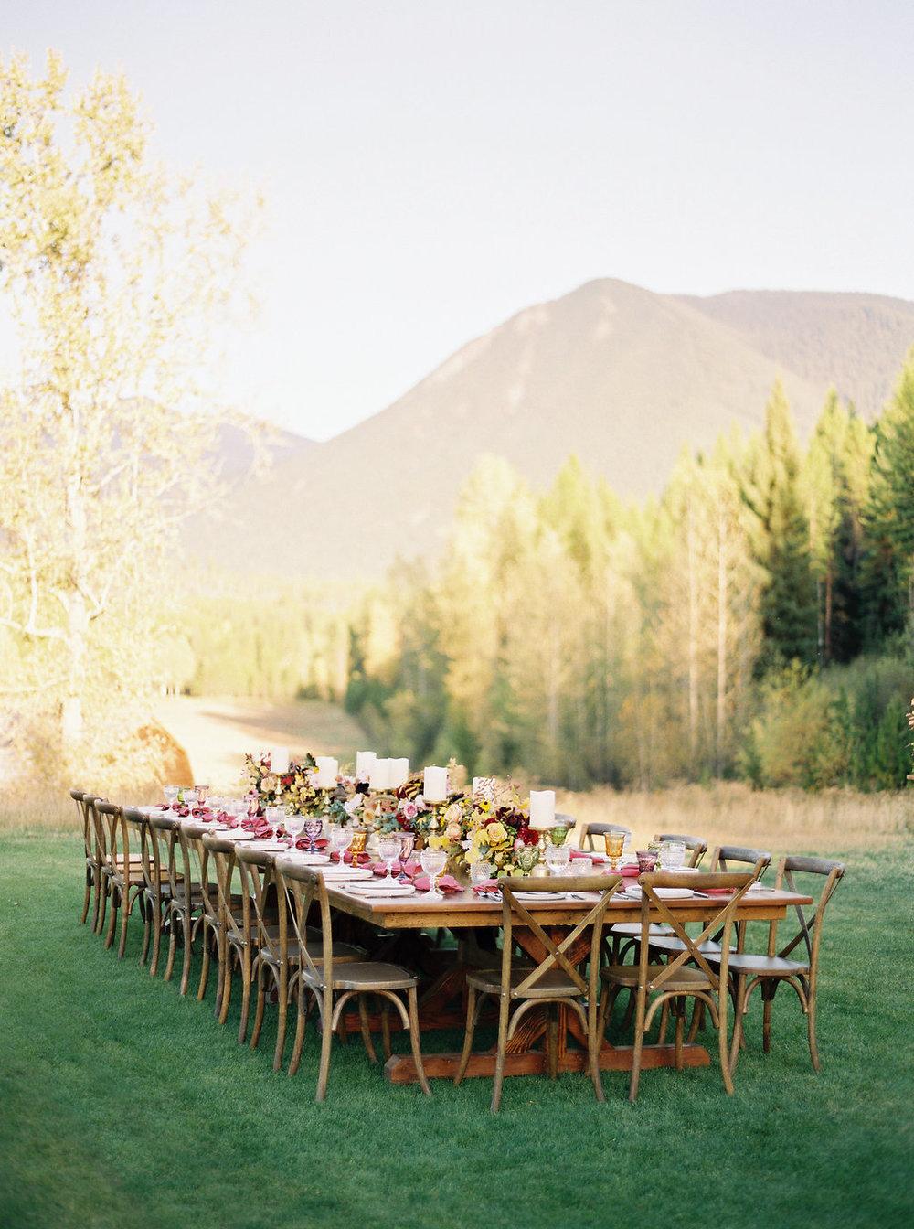 Outdoor Farewell Dinner // Montana Floral Design