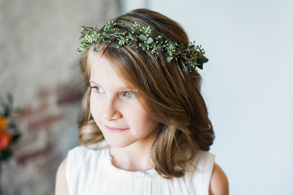 Flower Girl Greenery Crown // Destination Wedding Florist