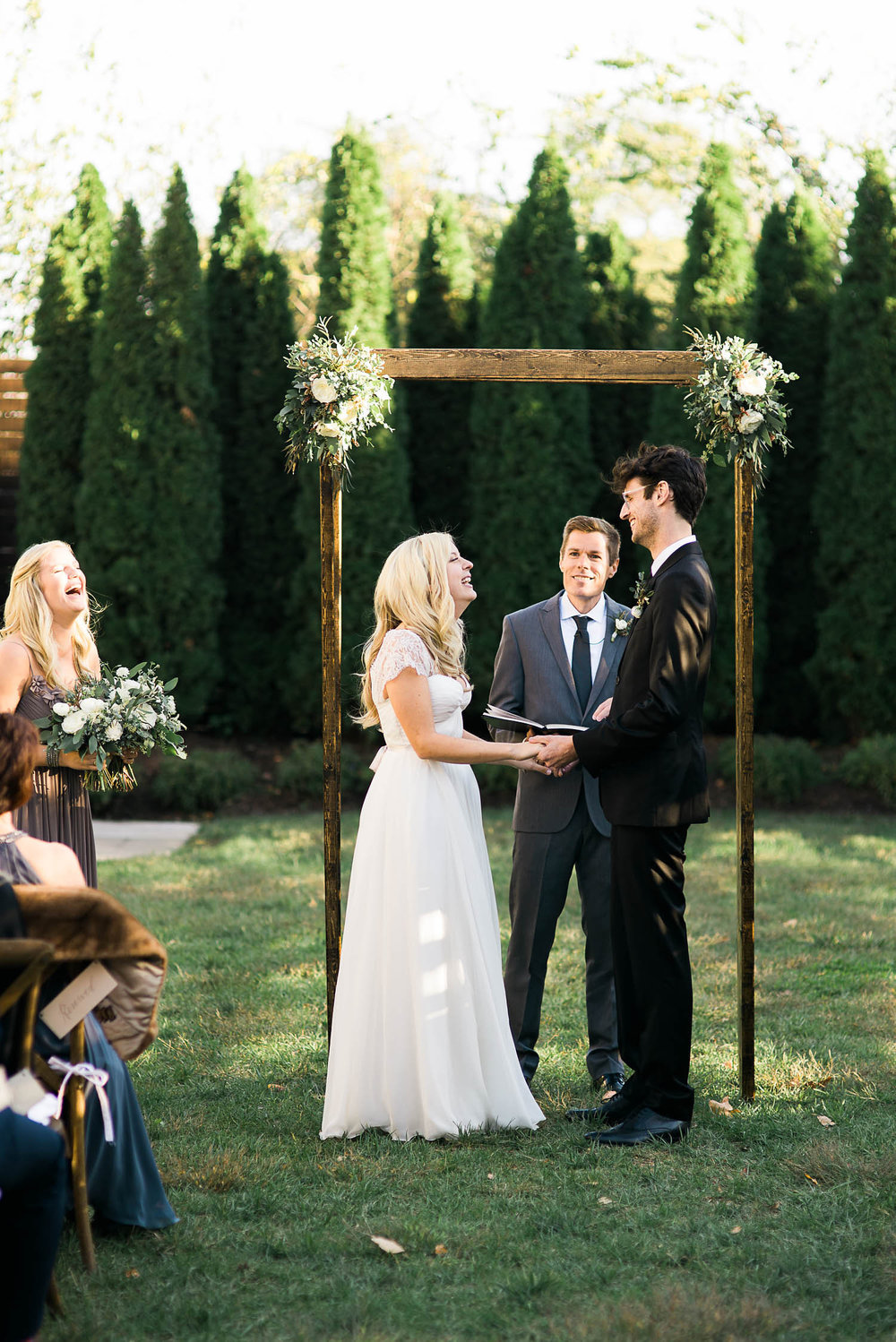 Wooden Chuppah Frame // Destination Wedding Florist