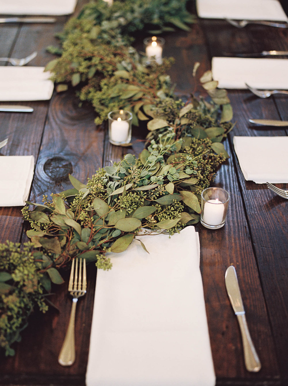 Greenery Garland Runner // Nashville Wedding Flowers