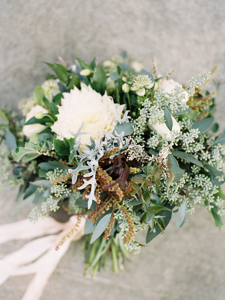 Lush bridal bouquet with cafe au lait dahlias // Nashville Destination Wedding Florist
