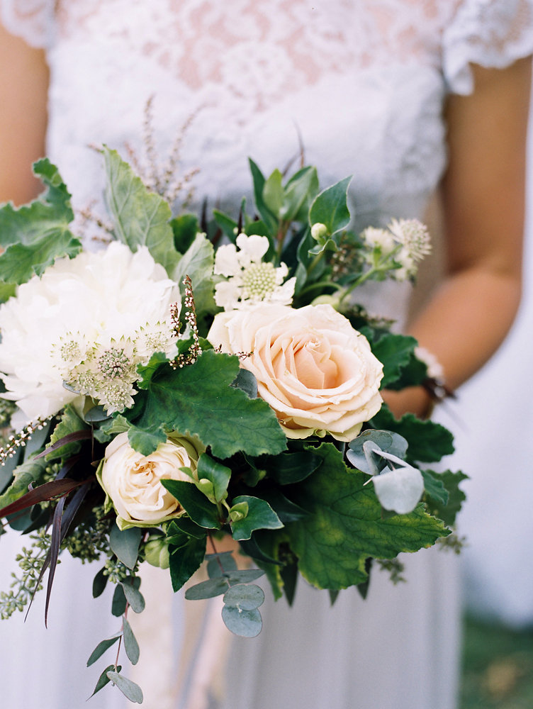 Greenery dense bridesmaid bouquet with blush and neutral florals // Cheekwood Botanical Garden Wedding