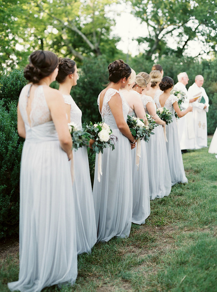 Pale Blue Bridesmaid Dresses // Upscale Ethereal Wedding Inspiration