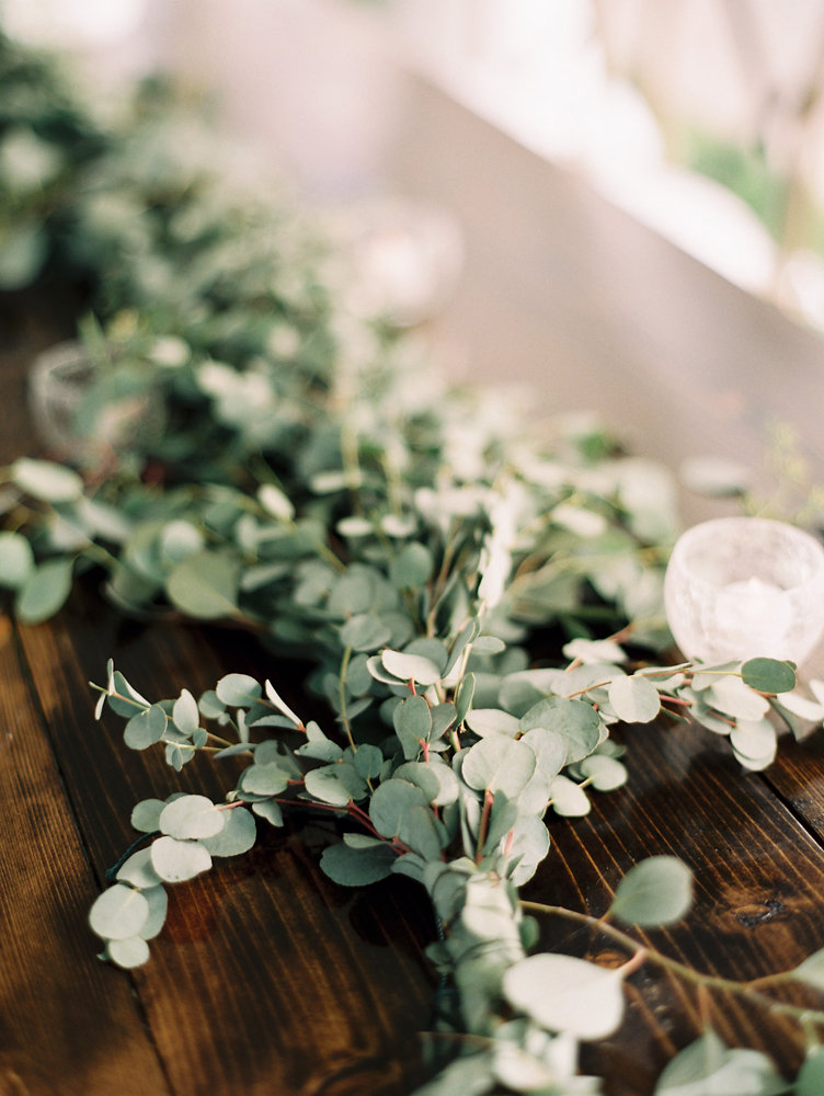 Untamed greenery garland runner // Nashville Wedding Florist