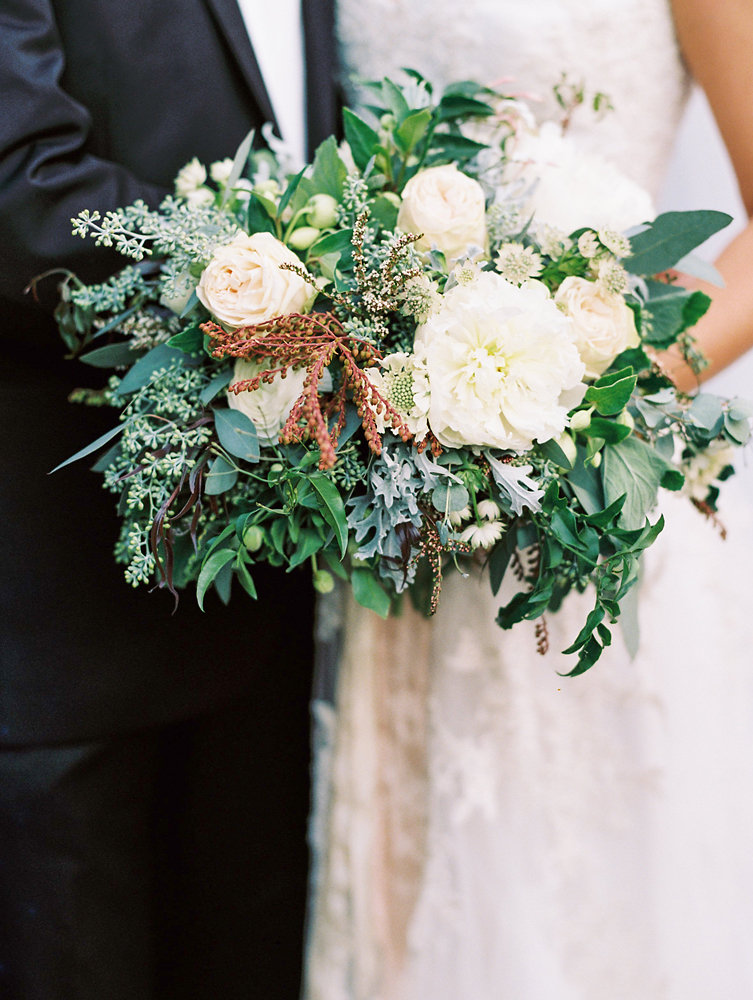 Loose, untamed bridal bouquet // Nashville Upscale Wedding Floral Design