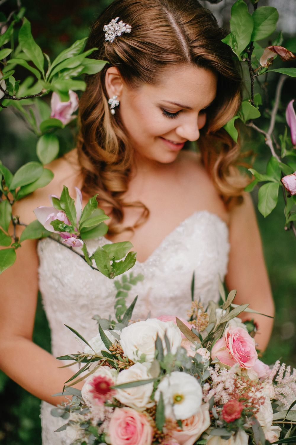 Soft pink bridal bouquet // Nashville Wedding Flowers