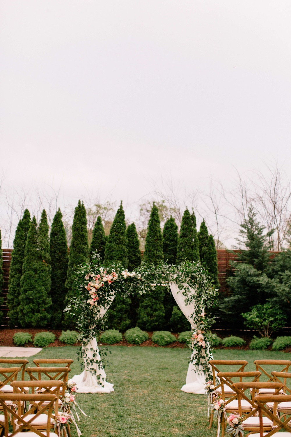 Lush greenery wedding chuppah / arch, Nashville Floral Design