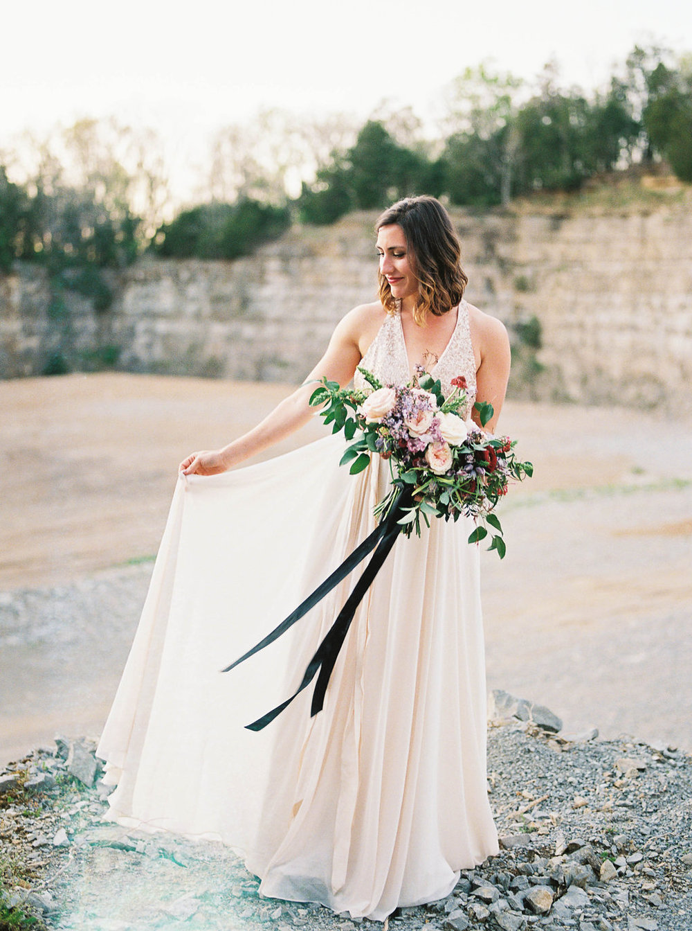 Rock Quarry bridal portraits in Nashville
