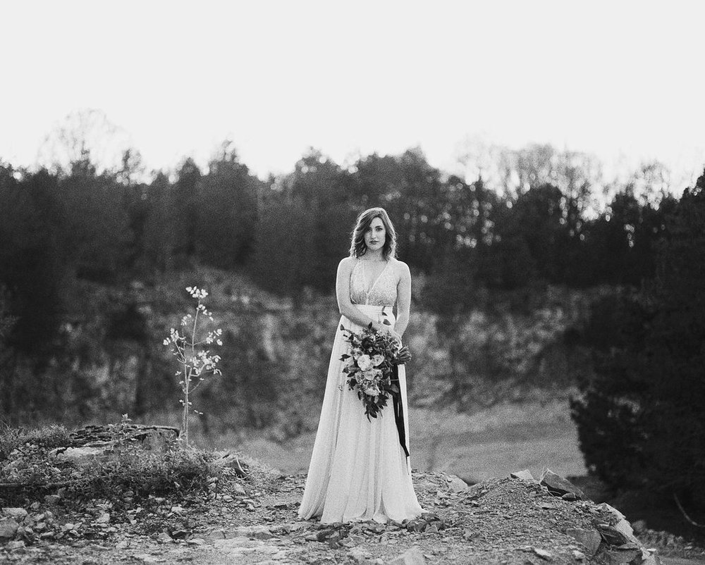 Bridal Portraits on Film // Nashville Floral Design