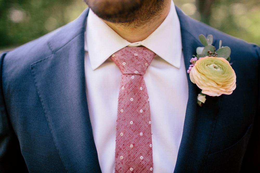Peach Ranunculus Boutonniere // Nashville Wedding Flowers