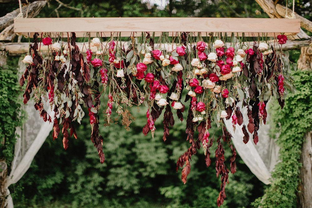 Bohemian floral installation // Nashville Wedding Florals