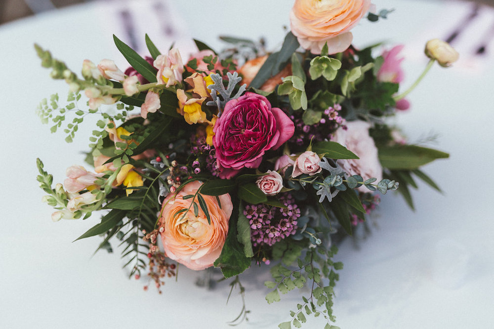 Lush, bright floral centerpieces // Nashville Wedding Flowers