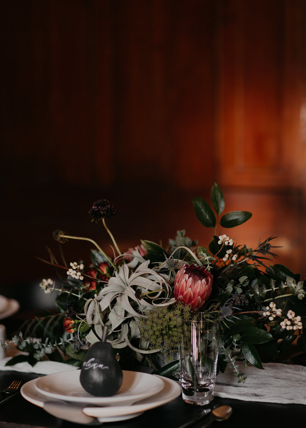 Wintry Wedding Inspiration--lush floral arrangement // Nashville Florist