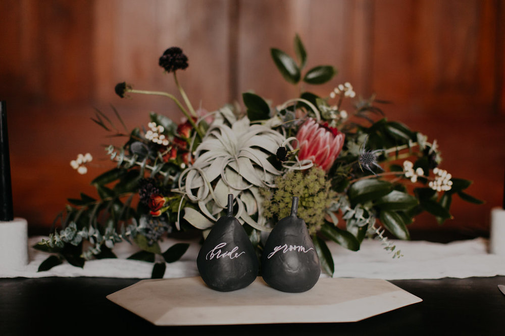 Wintry Wedding Inspiration--lush floral arrangement // Nashville Florist