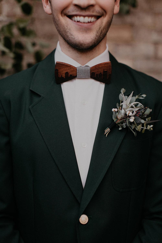 Wintry air plant boutonniere // Nashville Wedding Florist