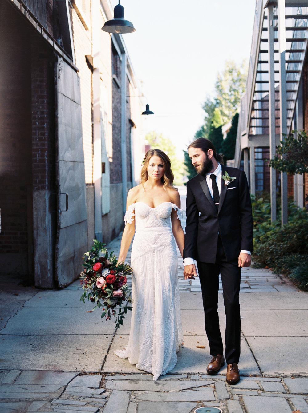 Wine and marsala wedding flowers // Nashville Wedding Florist