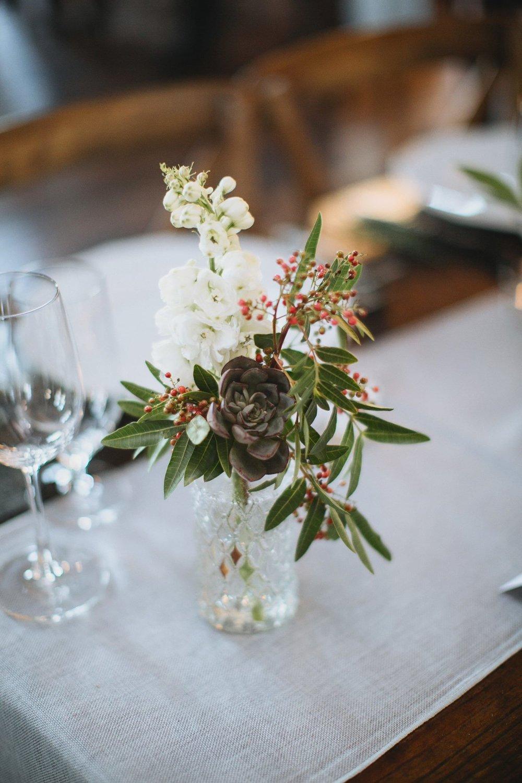 Simple succulent bud vase // Nashville Wedding Floral Design
