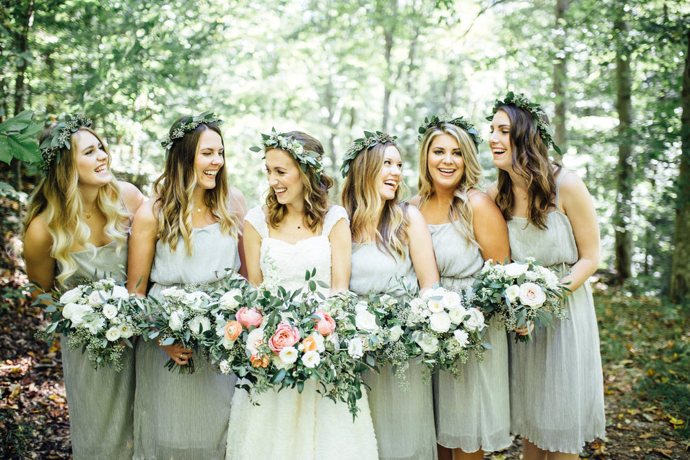Joyful bride and bridesmaids // Southern Wedding Florist